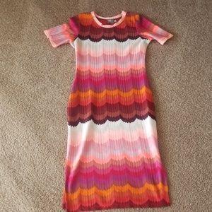 Asos striped bodycon dress